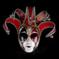ingrosso maschere di mascheratura disegnate-Maschere Mascherata Mascherata Maschere Colorate Maschera Testa Completa Per Halloween Clown Esegui Puntelli Nuovo arrivo 50wp BB