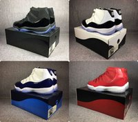 Wholesale orange slides - Cap and gown prom night 11 basketball shoes with Slide box Concord Win like 96 82 gamma blue legend blue low cool grey