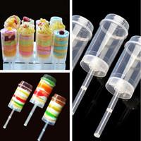 ingrosso pop plastica-Novità Cake Push Pop Containers Baking Clear Push-Up Cake Pop Shooter (Push Pops) Contenitori in plastica I387