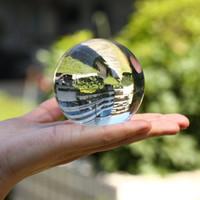 ingrosso miniature buildings-Asian Quartz Crystal Ball fotografia in vetro per la vendita 6 cm feng shui fashiongift Home Decor Sfera Magia Healing Globe Balls
