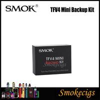 Wholesale Tfv4 Mini Kit - 100% Original Smok TFV4 Mini Backup Kit Two Short Sized Cores and Same Shorty Sized Replacement Glass Tube for Smok Tfv4 Mini Sub ohm Tanks