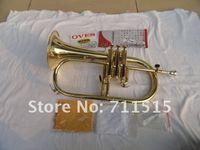 ingrosso strumento giallo tromba-VOES Nuovo arrivo Bb Tromba ottone giallo oro lacca flicorno Advanced B strumento piatto per gli studenti spedizione gratuita