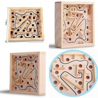 Wholesale wooden toys maze - Palmar Balance Steel Ball Toy Maze Game Wooden Beneficial Wisdom 20 Pass Adult Children Kid Inteplligence Creative 2 5ly V