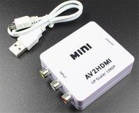 commutateur hdmi achat en gros de-Vente chaude HMini Composite VCBS en AV2HDMI Convertisseur Audio RCA AV vers HDMI Mâle à Adaptateur Convertisseur Femelle Switch Box 720 P 1080 P
