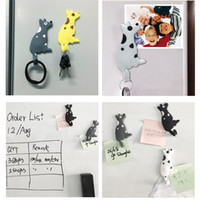 Wholesale pictures cartoon dogs - Fridge Magnets Lovely Dog Shape Tail Hook Small Object Pvc Soft Refrigerator Creative Cartoon Hot Sale 4 5yka V