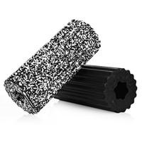 rodillos de yoga al por mayor-MILY Yoga Roller Hollow Fitness Foam Yoga 32x14cm Rodillos de espuma Masaje Roller Pilates Roller para fisioterapia