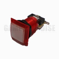 Wholesale arcade game push buttons for sale - 32MM mm Square illuminated push button switch for Arcade game machine for sale multi colors available