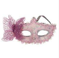ingrosso belle maschere metà per le donne-Moda sexy palla farfalla maschera maschera per le ragazze donne festa di ballo in maschera bella mezza maschera vendita calda