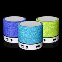 usb para rádio venda por atacado-Alto-falantes sem fio bluetooth mini alto-falantes a9 led colorido flash speaker fm rádio tf cartão usb para iphone x 8 do telefone móvel pc s8