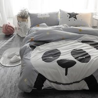 Wholesale boys queen sized bedding online - 4Pcs Cute Cartoon Single Twin size Bedding set For Kids Boys Cotton Bed set Duvet cover Bedsheet Fitsheet Soft Bedclothes