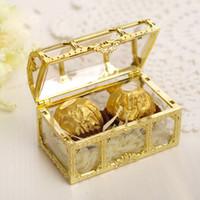 baby süßigkeiten schachtel geschenk groihandel-Kreative Hochzeits-Süßigkeits-Kasten-hohle Plastikgeschenk-Kasten-Goldsilberne Farbe Babyparty-Gastgeschenk-Geschenk-Kästen