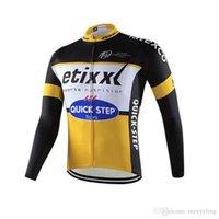 jerseys ciclismo al por mayor-Nuevo equipo profesional etixx quick step Jersey de ciclismo maillot de bicicleta Long sleeved shirt Bicicleta de hombre Clothes sport jersey mtb Bike wear F2327