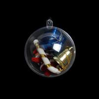 ingrosso scatole di regalo di natale-70pcs 7cm Trasparente Scatola di caramelle riempibile Pallina di Natale Albero di Natale Palla Ornamento regalo Scatole regalo può aprire la scatola Home Decor