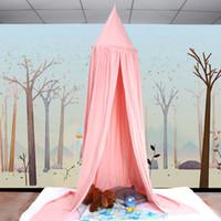 böcek gölgelik toptan satış-Pamuk Kubbe Cibinlik Prenses Çocuklar Bebek Böcek Yatak Canopy Netleştirme Yuvarlak Cibinlik Yatak için Perde