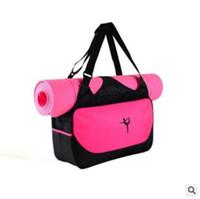 ingrosso tappetini per il fitness-9 colori multifunzionale sacchetto di yoga stuoia di fitness yoga zaino impermeabile forniture sacchetto di immagazzinaggio stuoia di yoga borsa cca9364 10 pz
