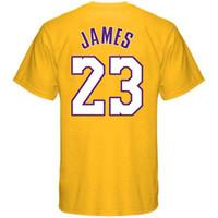 Wholesale brandon shirts - Los Angeles Laker LeBron James T-shirt Kobe Bryant Brandon Ingram Isaiah Thomas Kyle Kuzma ball Name & Number basketball T-Shirt