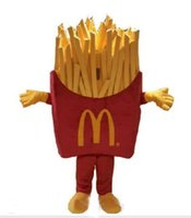 mascote real venda por atacado-2018 venda Quente de Alta Qualidade bolha de algodão McDonalds Food Mascot Trajes 100% imagens reais para Adulto Tamanho EMS frete grátis