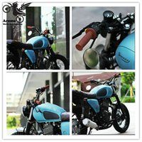 """Wholesale moto decals - Rubber motorbike Handle Bar 7 8"""" 22mm unviersal accessories colorful decal moto Handlebar Cafe Racer Vintage Motorcycle Grips"""