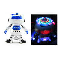 Wholesale best electronic dance music resale online - NEW Dancing Robert Electronic Toys With Music And Lightening Best Gift For Kids Model toy space robot dance creative