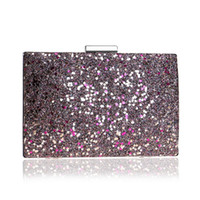 New Arrival Sequined Fashion Women Clutch Bag Chain Shoulder Small Party  Wedding Evening Bags Mixed Color Lady Handbags 87d5df63bd0a