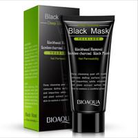 Wholesale charcoal peel off mask resale online - BIOAQUA Charcoal Mask Blackhead Remover Black Mask Deep Cleasing Peeling Off Face Mask Beauty Skin Care g
