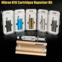 verdampfer zerstäuber großhandel-Authentic Hibron H10 Starter Kit 650mAh 10W Box Mod Verbessertes dickes Öl CE3 BUD CO2 0.8ml Patronen Zerstäuber O pen Mystica Vaporizers vape