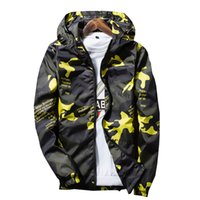 Wholesale New Fashion Camouflage Clothing - new Spring Autumn Mens Casual Camouflage Hoodie Jacket Men Waterproof Clothes Men's Windbreaker Coat Male Outwear XS-4XL
