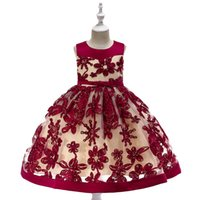 Wholesale birthday party dress child baby photo resale online - Hot Sale Baby Girl Flower sequins Dress Party Princess Dress Children kids clothes colors yrs Flower Girl Dress