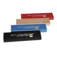 ssd katı hal toptan satış-USB 3.1 C Tipi NGFF M.2 Harici Katı Hal Sürücüler SSD 256GB Sabit Disk Kutusu Sabit Disk Depolama Aygıtları için SSD HDD Muhafazası