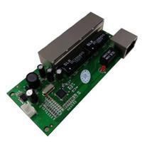 mini cortafuegos al por mayor-mini interruptor mini 5 puertos 10 / 100mbps interruptor de red 5-12v ancho de entrada módulo de ethernet elegante pcb rj45 con led incorporado