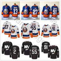 Wholesale New 55 - 2018 New Style AD Brand New York Islanders Hockey 13 Mathew Barzal 27 Anders Lee Jerseys 55 Johnny Boychuk #91 John Tavares Jersey