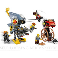 Wholesale Toys For Chinese Children - wholesale Lepin 06068 Combat Robot Technic Legoing Ninjago Chinese Trailer Pcs Piranha Building Blocks Toy for Children