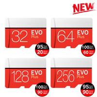 cartão 128 venda por atacado-2019 Preto Vermelho EVO Plus C10 64 GB 128 GB 256 GB Cartão de Memória TF Cartão de Memória, Pacote de Blister Varejo grátis, frete Grátis