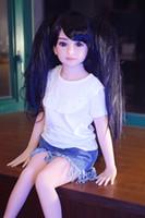 kız göğüs seks toptan satış-Erkek için küçük meme Japon sevimli kız 108cm silikon seks bebeği
