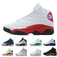 Wholesale green day love - New 13s mens basketball shoes Hyper Royal Love Respect Bordeaux Flints Chicago DMP 3M History of Flight Olive Ivory Black Cat sports sneaker