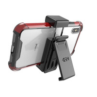 Wholesale Holsters For Cellphones - self lock smart cellphone holder kickstand universal Holster with Belt Clip for iphone x samsung s9 phone case also work for it