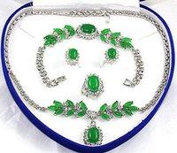 ingrosso bracciale in oro giallo-Anello del braccialetto Collana in Oro giada verde bianco placcato link di cristallo