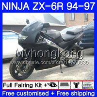 Wholesale 1996 kawasaki zx6r fairings black online - Body For KAWASAKI NINJA ZX CC ZX6R HM ZX600 ZX636 ZX R ZX R Matte black frame Fairings