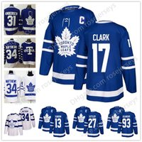 Wholesale doug gilmour - Toronto Maple Leafs #93 Doug Gilmour 17 Wendel Clark 13 Mats Sundin 27 Darryl Sittler Blue White Retired Player Stitched Hockey Jersey S-60