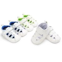 Wholesale slip sandals infants for sale - Hot Sale Baby Infant Sandals Newborn Boys Girls Summer Shoes Unisex Rubber Non slip Sole PU Walking Shoes for month