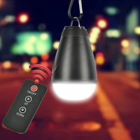 mosquito paraguas al por mayor-1.5W 200LM 12 LED Linterna portátil con control remoto por infrarrojos 3-modo USB recargable ligero tienda de campaña paraguas Lámpara que acampa