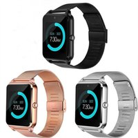 Wholesale the apple watch for sale - Group buy New Z60 Bluetooth Smart Watch Phone Smartwatch Stainless Steel for IOS Android With the Retail Box