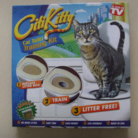 Wholesale cat toilets - Drop shipping Retail box 2017 Citi kitty Pet Toilet Trainer Puppy Cat Toilet Litter Trainer Cat Training kit