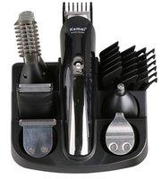 ingrosso macchina elettrica di taglio di capelli-KM-600 kemei 6 in 1 tagliacapelli professionale Tagliacapelli da uomo elettrico taglio barbiere taglio di capelli in ceramica titan