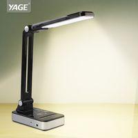 ingrosso tabelle uk-YAGE 3986 Lampada da tavolo a Led da 1,8 W regolabile in modo leggibile Lampada da tavolo Luminosità senza limiti 30 pz LED AC 110 V-220 V Nero / Bianco Spina USA / EU / UK