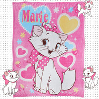 Wholesale cartoon coral fleece bedding for sale - Group buy Airplane Mary Cat Home Textile Cartoon Blanket for Kids Gift Doraemon Stitch Coral Fleece Blanket Throw on Bed Sofa Boys cm Queeen