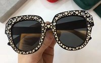 Wholesale cat design sunglasses for sale - Luxury Sunglasses For Women Diamond Design Cat Eyes Summer Style Rectangle Full Frame Top Quality UV Protection Come With Package