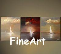 peintures voiliers achat en gros de-peintures à la main sur panneau peintures bateau à voile peinture à l'huile discount moderne canapé ensemble design toile peinture décoration