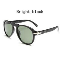 Wholesale sunglasses golden arrows - Latest persol 649 mens sunglasses famous designer Italian classic 714 persol arrow folding sunglasses blue lenses
