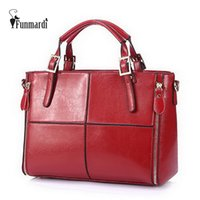 Wholesale Cattle Brands - Fashion patchwork designer cattle split leather bags women handbag brand high quality ladies shoulder bags women bag WLHB974